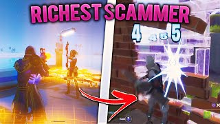 I Destroyed The RICHEST Scammers Homebase! (Scammer Gets Scammed) In Fortnite Save The World Pve
