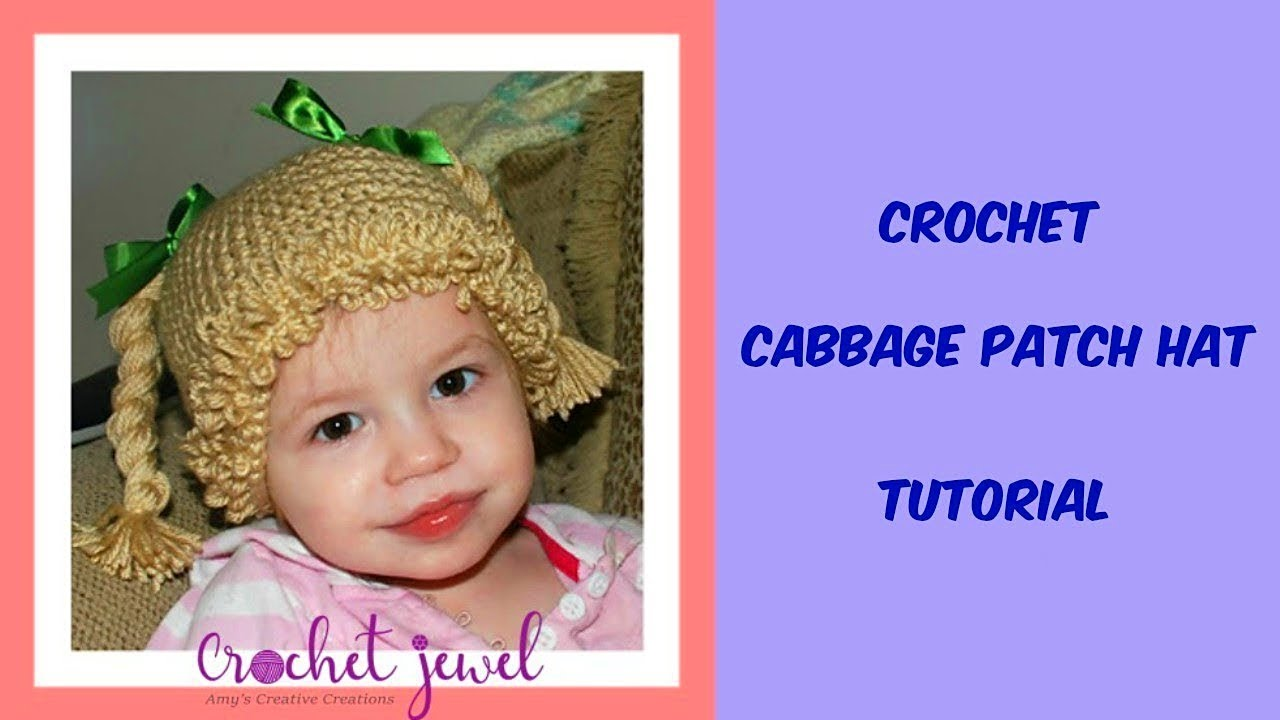 How to Crochet a single loop stitch for Cabbage Patch Hat - Crochet Jewel b323dcc7a46