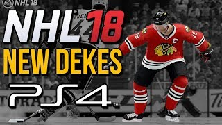 NHL 18 - How to do ALL NEW DEKES on PS4