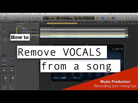 How to Remove Vocal From a Song - Easy - Logic pro X