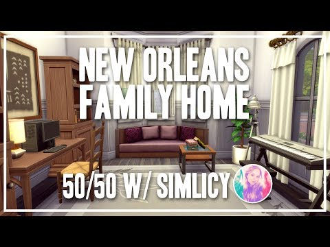 New Orleans Family Home [50/50 Collab w/ SimLicy] - The Sims 4 Speed Build thumbnail