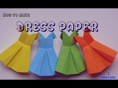 ✄ IDY ✄✿ How to make an origami paper dress