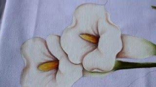 Pintura em tecido – Copo de leite parte 2
