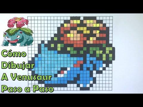 Cómo Dibujar a Venusaur en 8 bit o Pixel Art! TUTORIAL PASO A PASO thumbnail