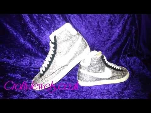 Fully Covered Diamante Crystal Nike Blazers by Crafty Jewels