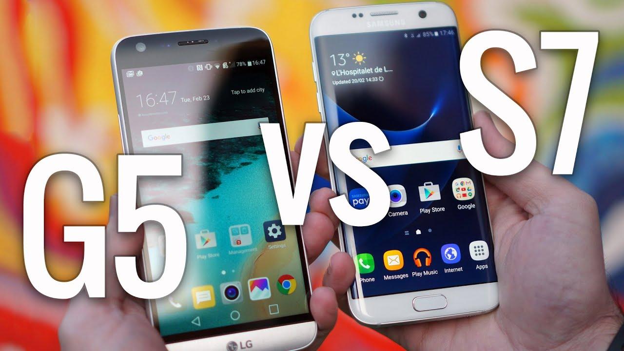 samsung galaxy s7 edge vs lg g5   youtube