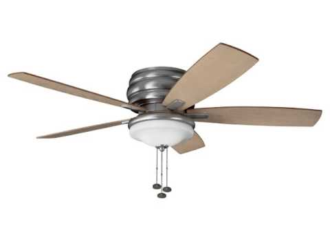 Quick Review Kichler Lighting 300119ni Windham 52in Flush Mount Ceiling Fan Brushed Nickel Finish
