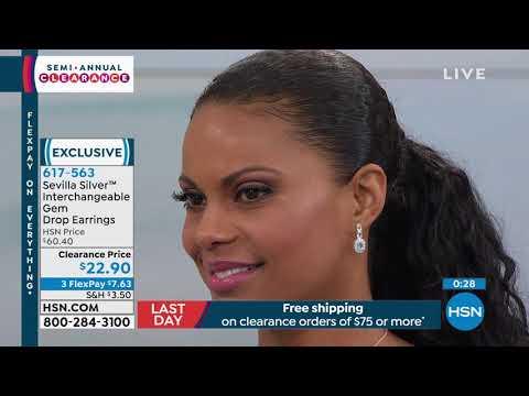Sevilla Silver Interchangeable Gemstone Drop Earrings. http://bit.ly/2WYrQ5W