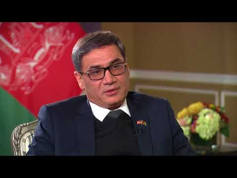 Afghan acting Defense Minister Bahrami talks to VOA