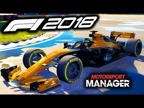F1 2018 McLaren Manager Career! - Motorsport Manager PC