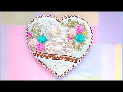 """How to decorate cookie with edible lace. """"Enjoy the Ride"""" cookie.👒🌸"""