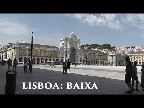 LISBOA: Baixa Pombalina - downtown district (2/5) Portugal HD