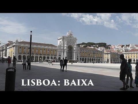 LISBOA: Baixa Pombalina - downtown district (2/5) Portugal HD