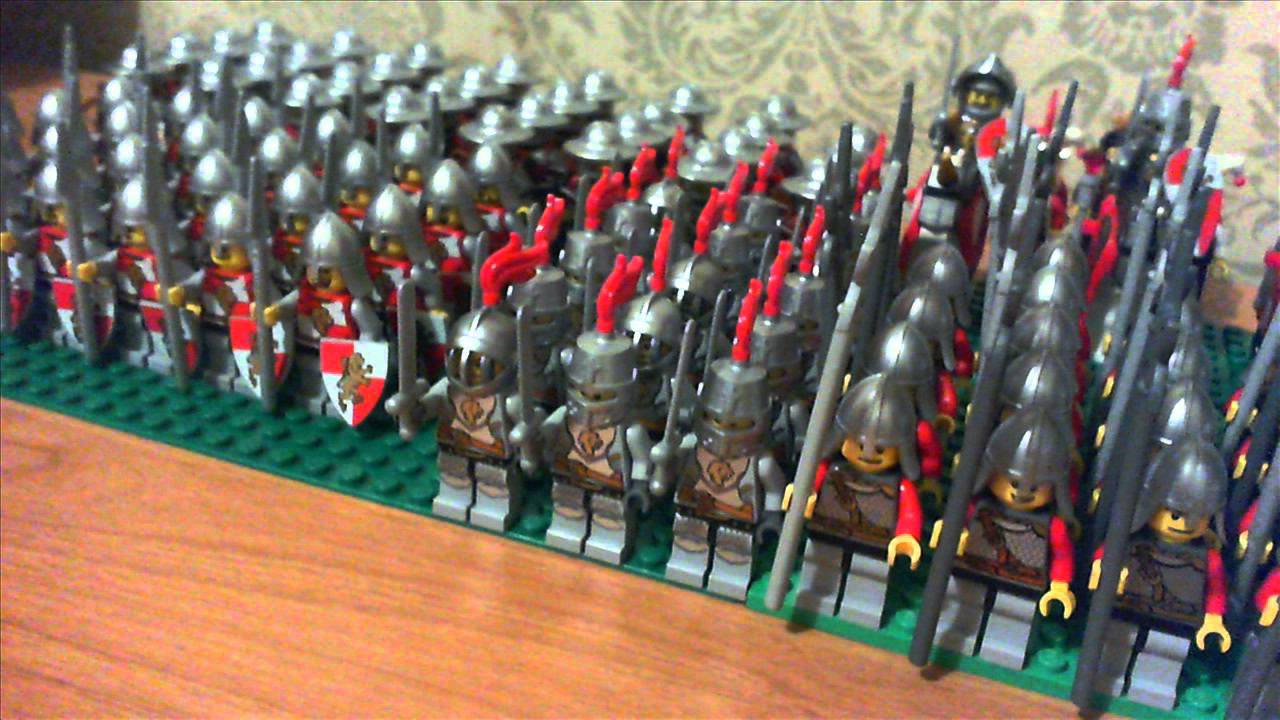 My Lego Castle Lion Knights Army October 2011 Youtube