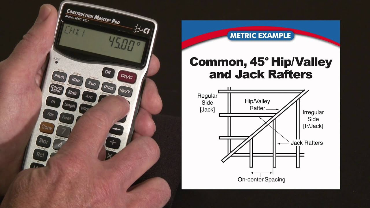 Construction Master Pro Metric Rafters Commons Hips