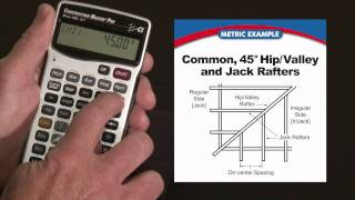 How to do Rafters in Metric -- Commons, Hips/Valleys and Jacks | Construction Master Pro