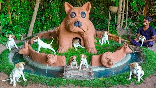 MUD DOG HOUSE AND SWIMMING POOL For Rescued Puppies