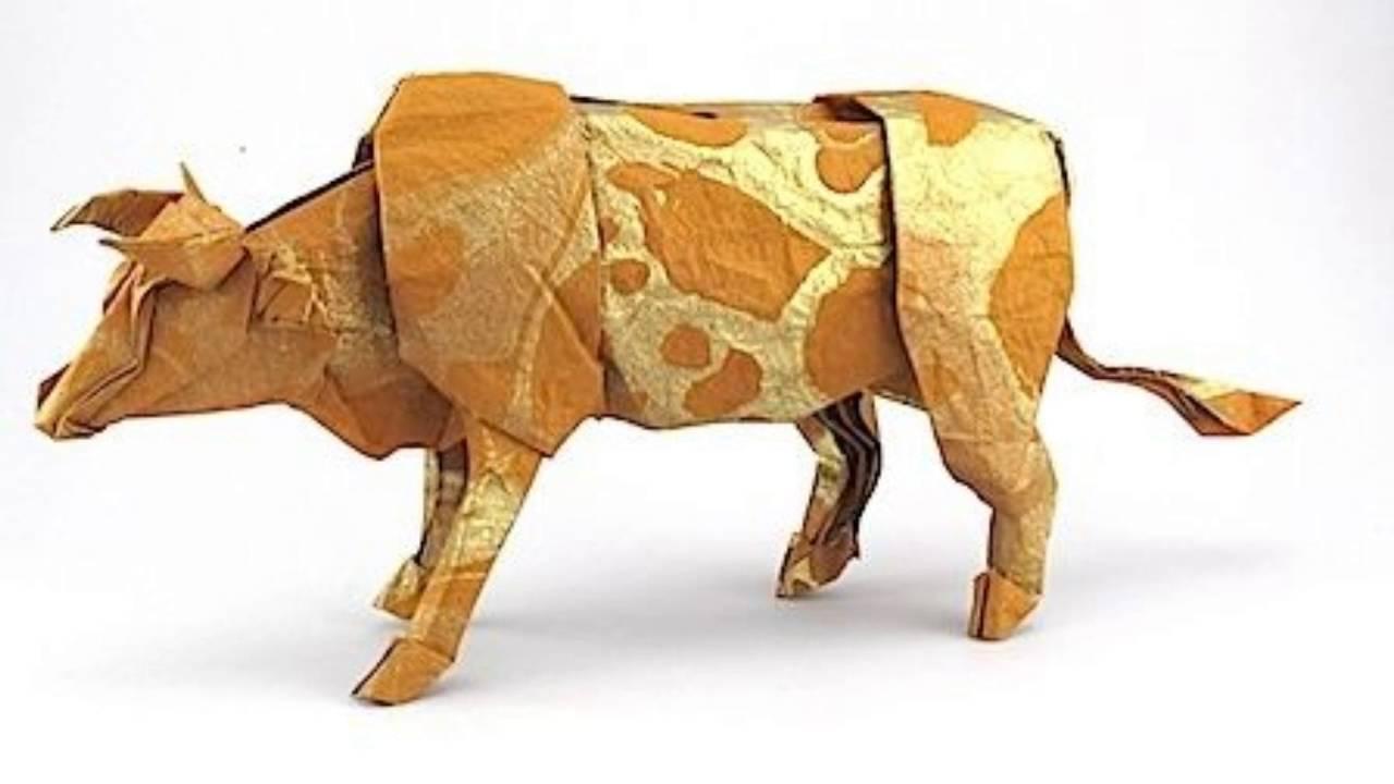 origami cow satoshi kamiya ��������������� youtube
