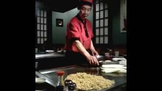 Japanese chef/entertainer at Fujisan Japanese Steakhouse Durham, North Carolina