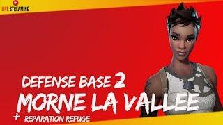 """FORTNITE -BOUCLIER ANTI TEMPÊTE BASE 2 MORNE LA VALLEE """" SAUVER LE MONDE """" - PS4 720P Fr"""