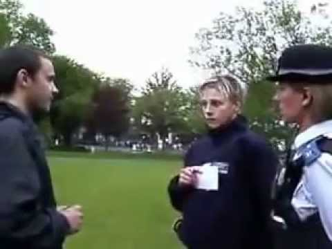 Metropolitan Police Stop Man And Demand I.D Fail.