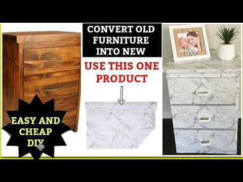 Turn your old furniture into new | old furniture makeover | Easy, simple, quick and the cheapest way