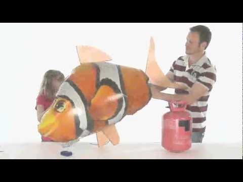 Funny Infrared RC Air Flying Fish Toy With LED Light
