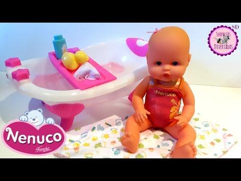 Mi Pequeño NENUCO con su Bañera - Abrimos el juguete nuevo de NENUCO y bañamos a la bebé