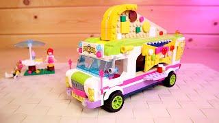 Конструктор Пиццерия на Колесах Фудтрак аналог Лего китайский Qman для девочек