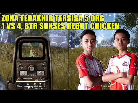 BTR LUXXY NGAMUK, LATE GAME 1 VS 4 AUTO RATA! PUBG MOBILE INDONESIA