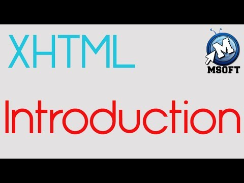 | XHTML | Introduction | Msoft | ( Darija )