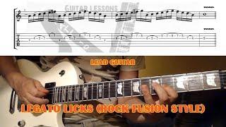 Rock Fusion Legato Licks (Dorian Mode) GUITAR LESSON with TAB