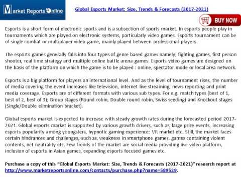 2017-2021 Esports Market Global Forecasts Analysis Report