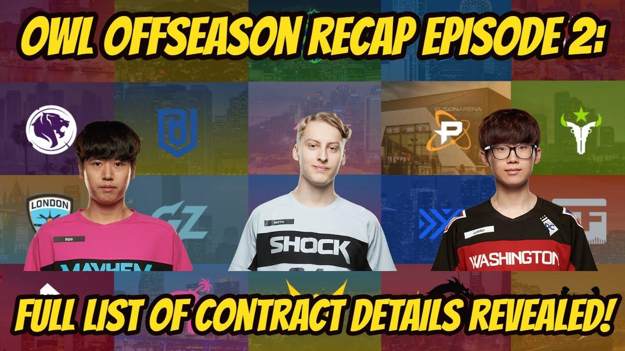 Contract Status of Every Player Revealed! OWL Season 4 Offseason Recap Episode 2