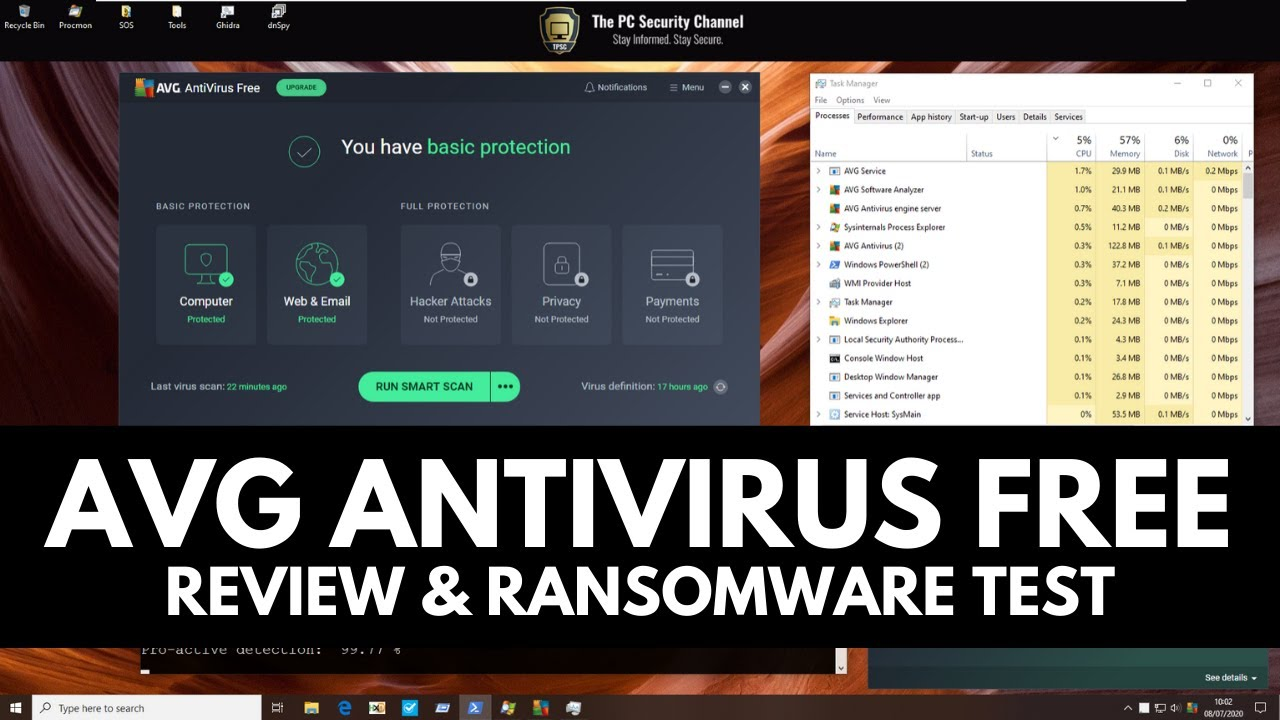 AVG Antivirus Free | Review and Ransomware Test