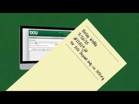 DCU Digital Federal Credit Union - How to Use Online Check Deposit