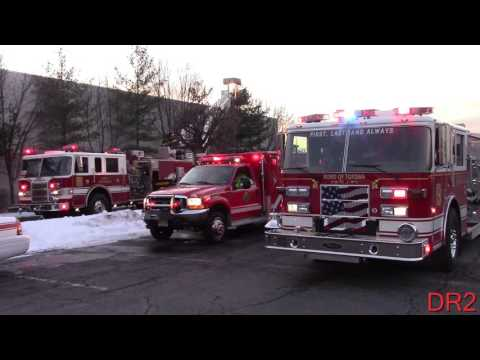 Totowa Fire Department Working Hotel Fire Route 46 Holiday Inn 1-28-16