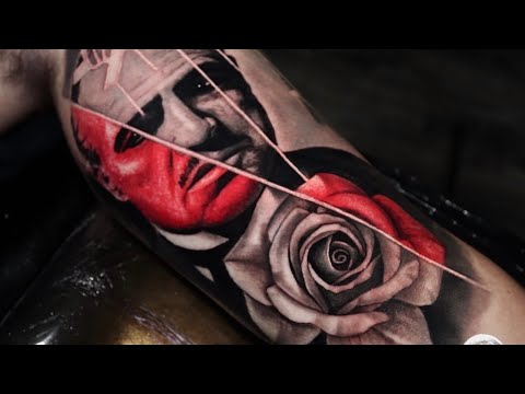 HOW TO TATTOO ✖️ APRENDE A TATUAR 🔸 THE GODFATHER ✖️ TATTOO TIME LAPSE TUTORIAL (by: mr.reyes_ink)