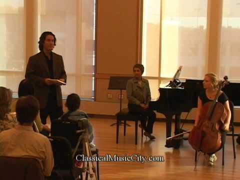 Zuill Bailey, Coaching Dvorak Cello Concerto