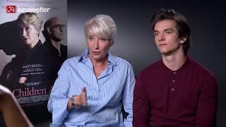 Interview Emma Thompson  &  Fionn Whitehead THE CHILDREN ACT