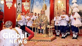 Elaborate ceremony held for coronation of Thai king