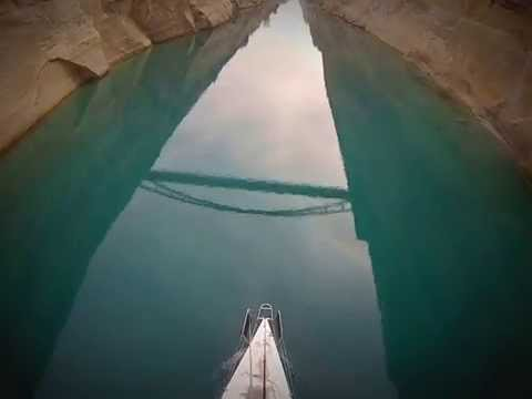 korinthos canal archaggel sailing boat 1