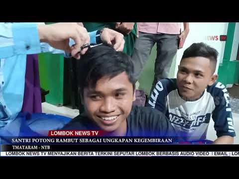 SANTRI POTONG RAMBUT RAYAKAN KEMENANGAN JOKOWI AMIN DI NTB (Lombok News TV)