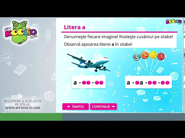 Lecție demo clasa pregătitoare - Literele a și A de tipar