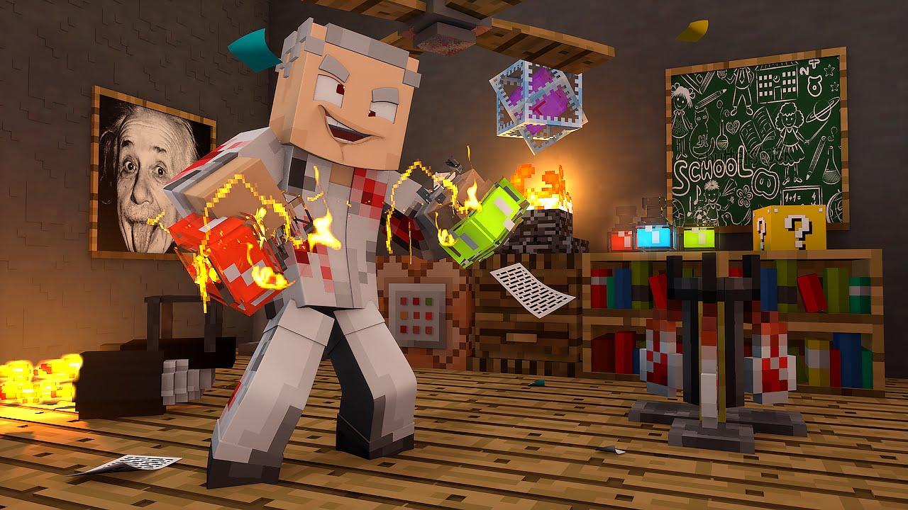 Minecraft CIENTISTA MALUCO The Lab MiniGame YouTube - Skins para minecraft pe cientista