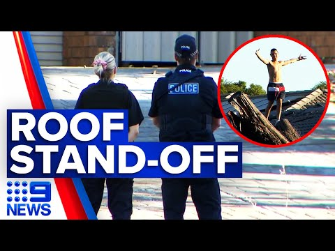 Man in hospital after intense police standoff | 9 News Australia thumbnail