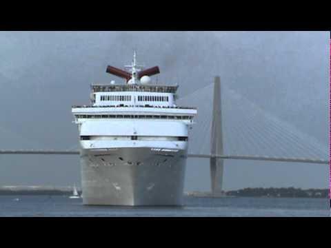 Carnival Fantasy Leaving Charleston YouTube - Cruises leaving from charleston