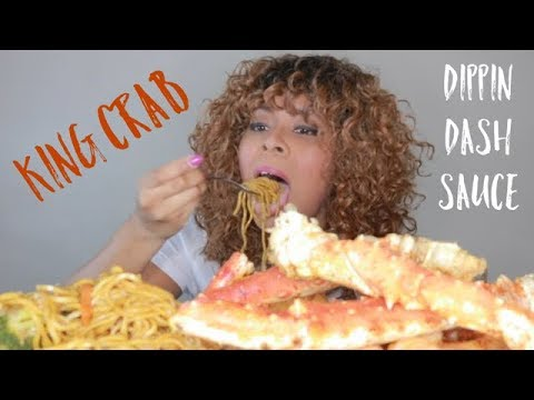 KING CRAB & LO MEIN MUKBANG WITH DIPPIN DASH BUTTER SAUCE