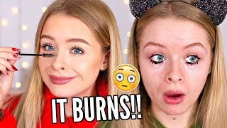 DYEING MY EYELASHES.. THIS WAS A BAD IDEA 😂 | sophdoesnails