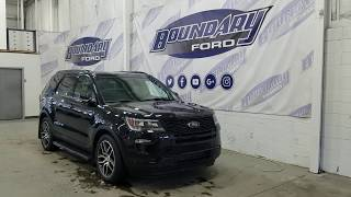 2018 Ford Explorer Sport W/ 3.5L EcoBoost, Leather Overview   Boundary Ford